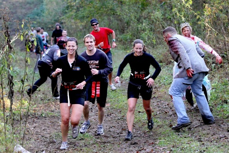 "Runners at last year's ""Run for Your Lives"" event dodge zombies with their their eyes on their post-apocalyptic prize. Photo courtesy of HGL."