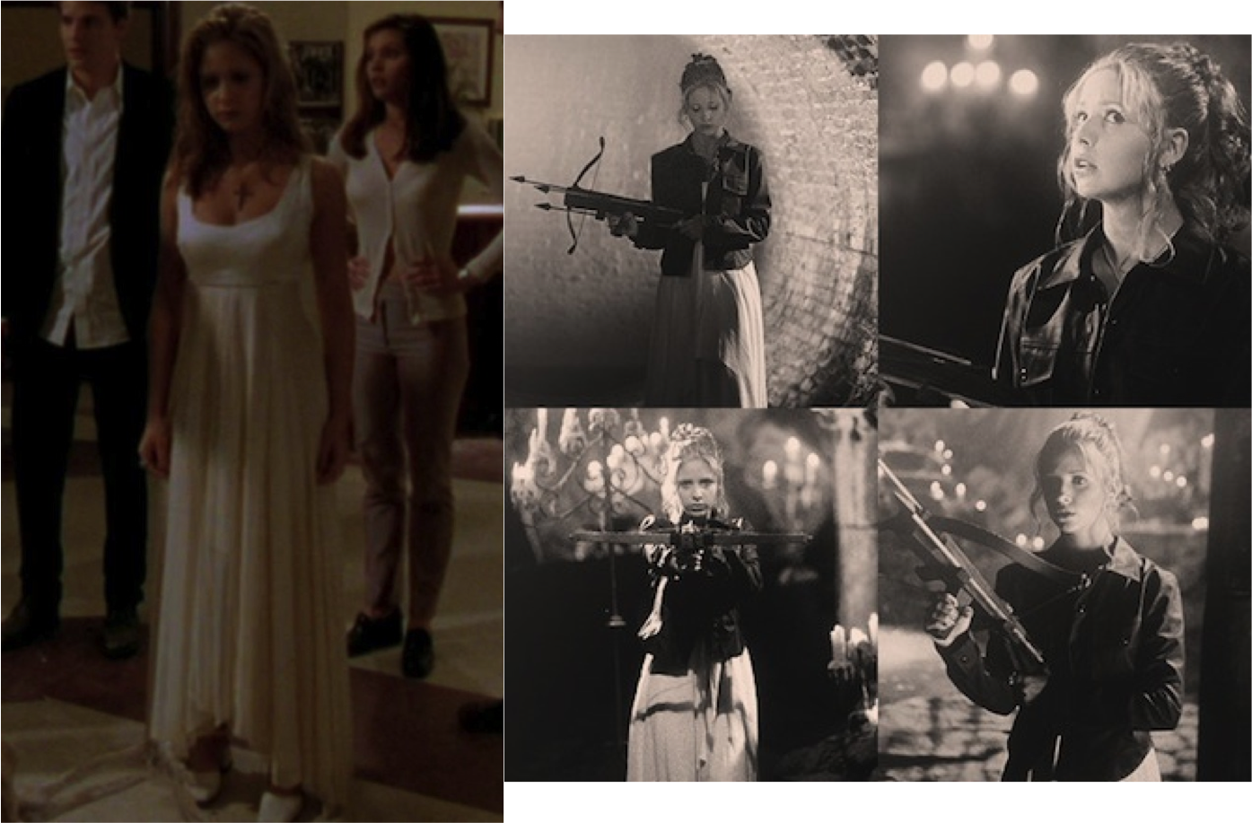 Buffy season 1 white dress coats