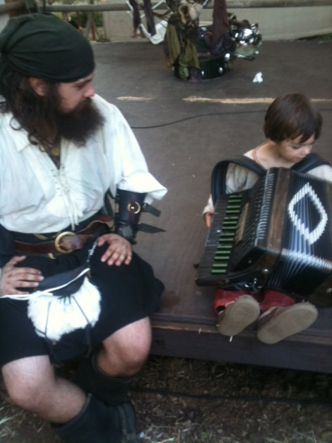 pirate and child