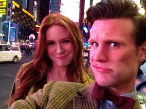 Karen-Gillan-and-Matt-Smith-Times-Square