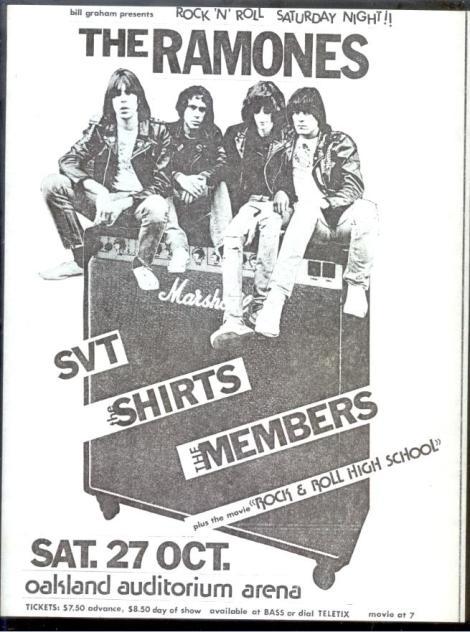 An original Ramones poster, for comparison