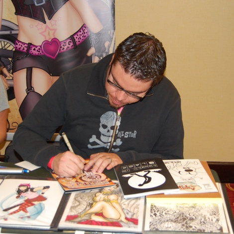 Comic artist Andy Perez
