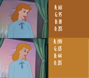 """top: Older probably VHS version bottom: Recent """"Restored"""" DVD and BluRay"""