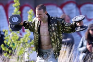 Ryan Gosling directs Matt Smith in shirtless scenes for 'How To Catch A Monster' in Detroit