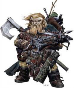 Badass Pathfinder Dwarf is Badass